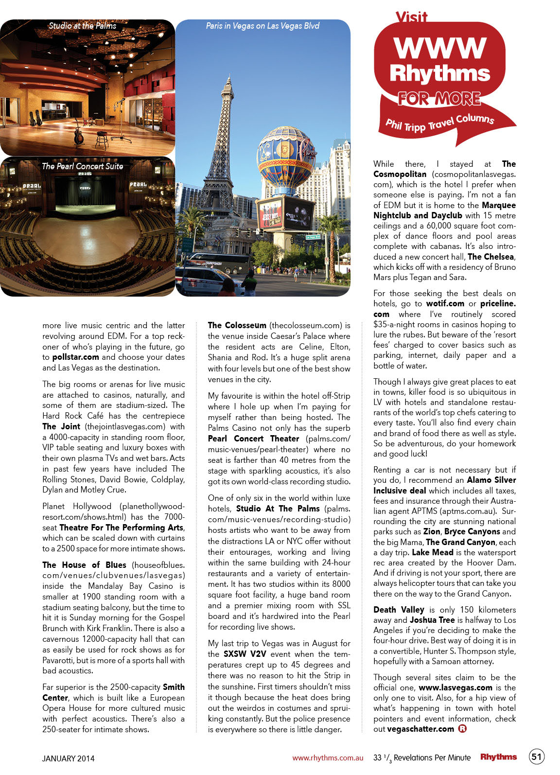 RHYTHMS January 2014 Travel 51 1