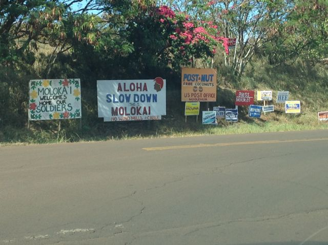 Molokai signs