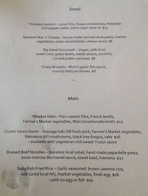 hilo full moon menu