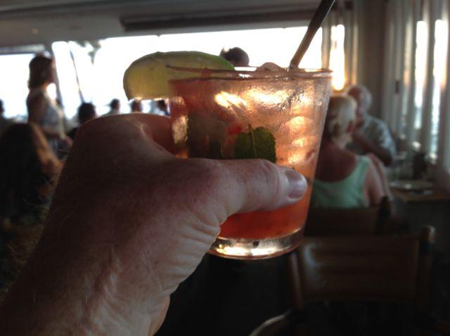 Merri drink in hand